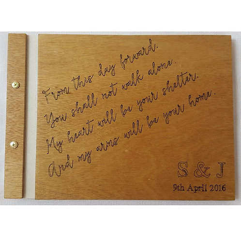 Wooden Guest Book Style 2