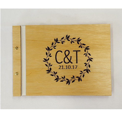 Wooden Guest Book Style 8