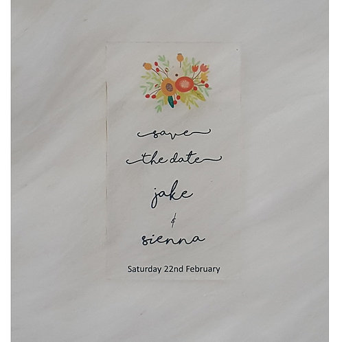 Acrylic Save The Date Design 5