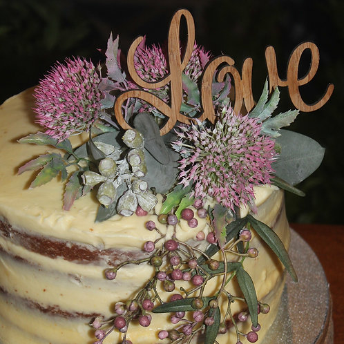 Love Style 1 Cake Topper