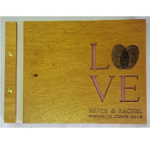Wooden Guest Book Style 4