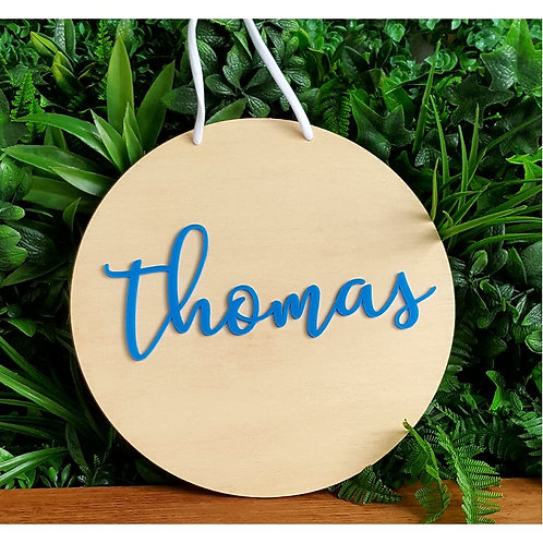 Personalised 3D name plaque