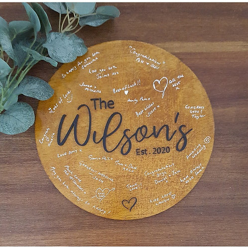 Guest Book Acrylic 3D Plaque - Large