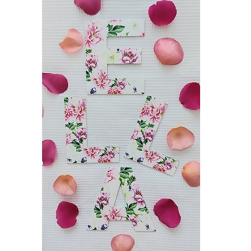 Peonies Acrylic Printed Letters