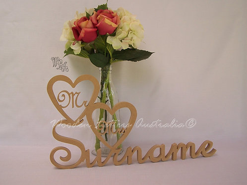 Mr & Mrs Surname French Style 2