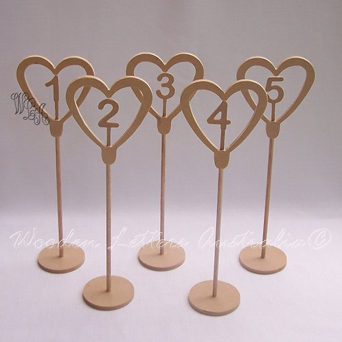Sets of Tall Table Numbers