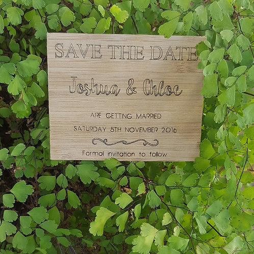 Bamboo Save The Date Card