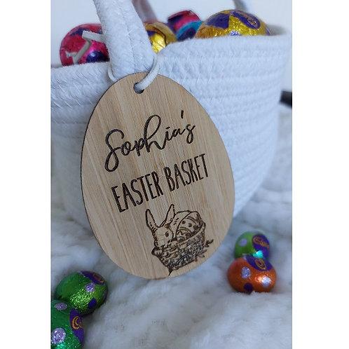 Vintage Easter Basket Tag - Style 2
