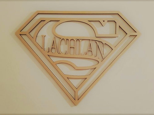 Personalised Superman Sign Style 2