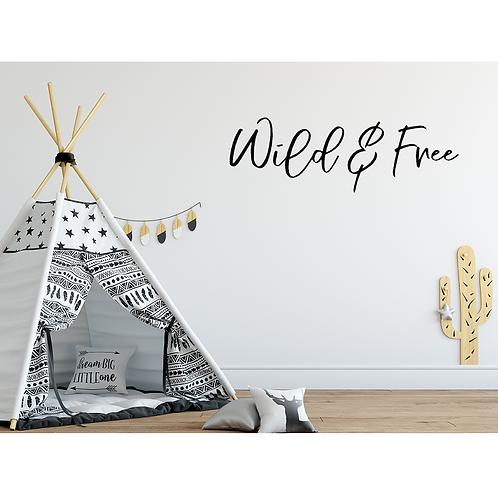 Wild & Free LARGE hanging sign