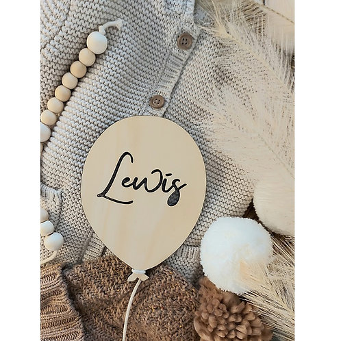 Wooden Personalised Name Balloon