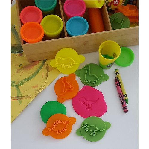 Dinosaur Set Play Doh Stamps