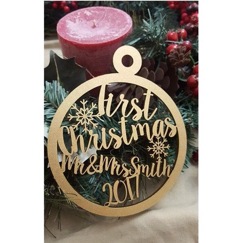 First Christmas Christmas Ornament