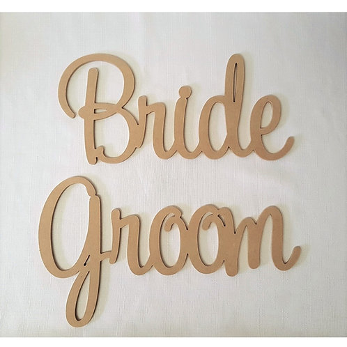 bride and groom sign style2