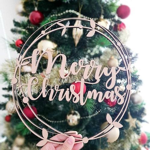 Merry Christmas Vine Hoop