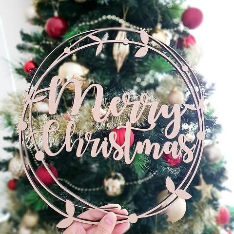 Merry Christmas Vine.Merry Christmas Vine Hoop