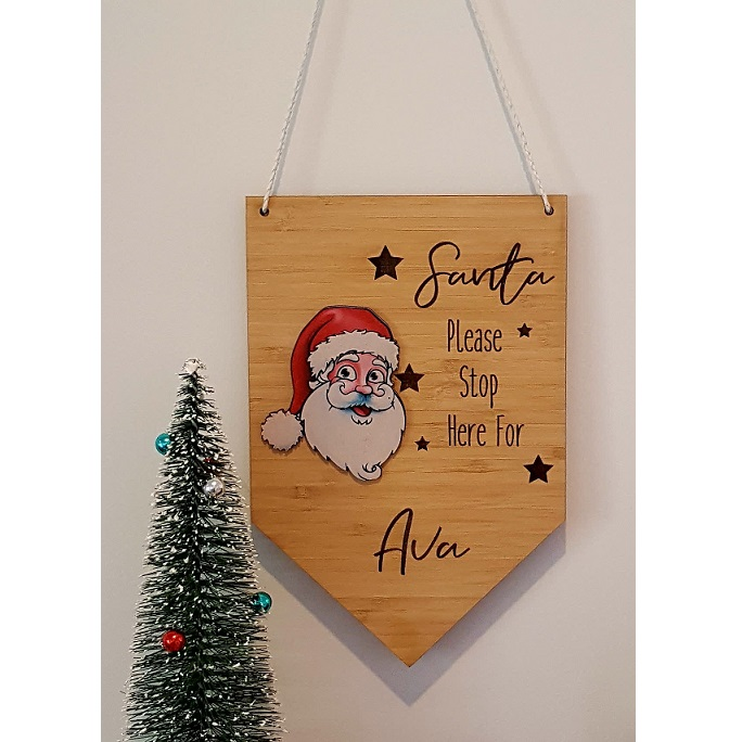 Santa Stop Here Large Sign Copy