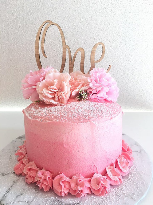 One Style 1 Cake Topper