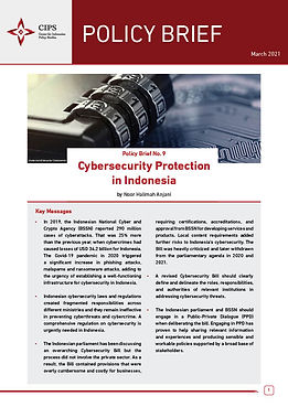 Cybersecurity Protection in Indonesia - CIPS Policy Brief