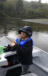 Fishing instruction on Olympic peninsula