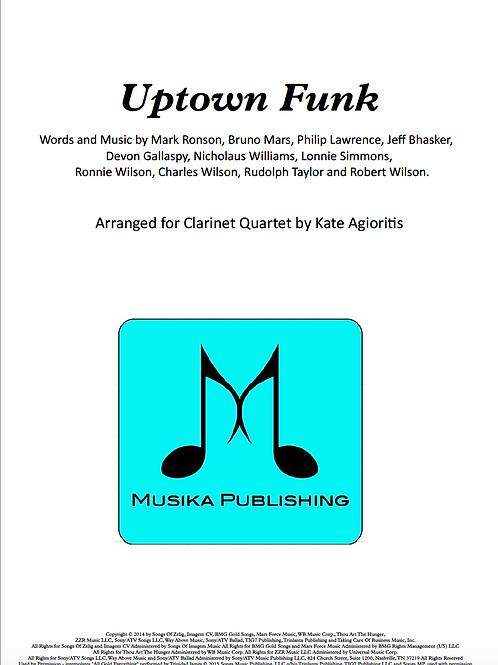 Uptown Funk - Clarinet Quartet
