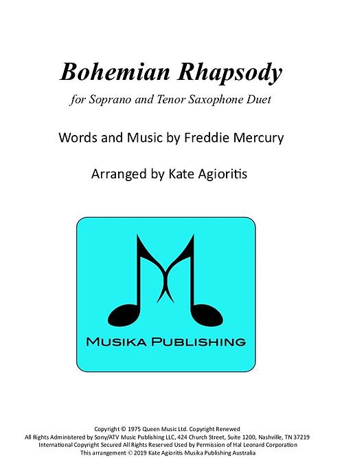 Bohemian Rhapsody (Queen) - Soprano/Tenor Saxophone Duet