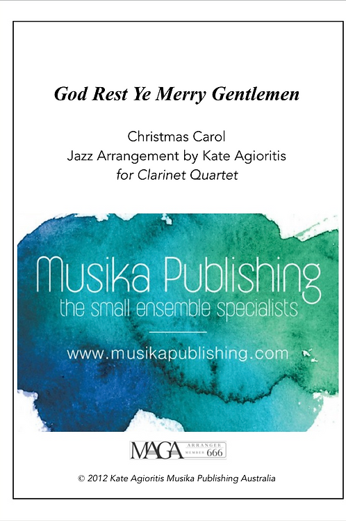 God Rest Ye Merry Gentlemen (Jazz) - Clarinet Quartet