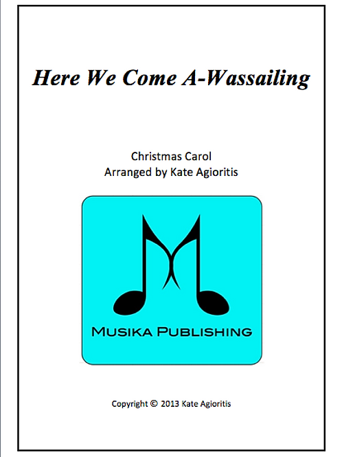 Here We Come A-Wassailing - Clarinet Quartet