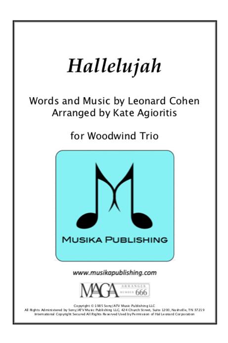 Hallelujah - Woodwind Trio