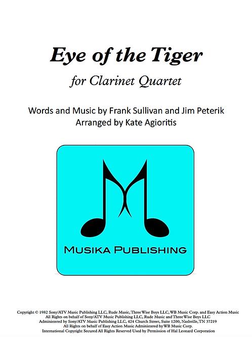 Eye of the Tiger (Survivor) - Clarinet Quartet