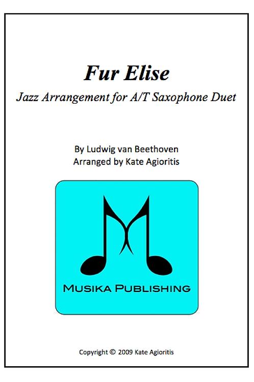 Fur Elise (Jazz) - A/T Saxophone Duet