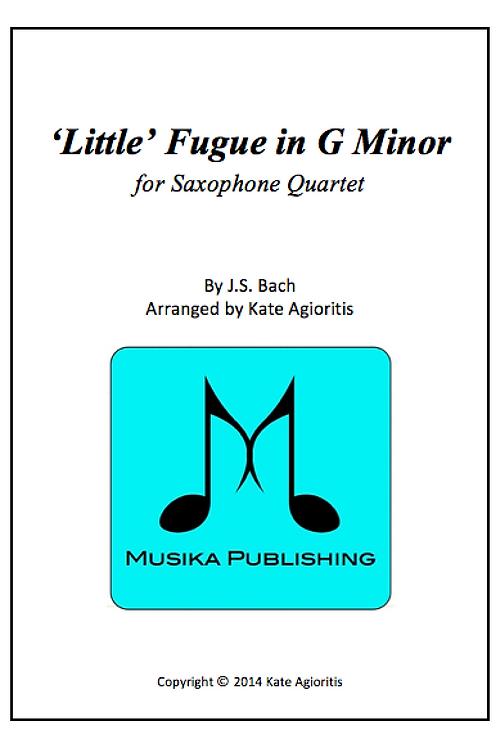 'Little' Fugue in G Minor (JS Bach) - Saxophone Quartet