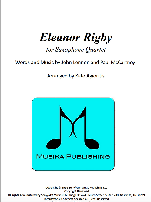 Eleanor Rigby - Saxophone Quartet