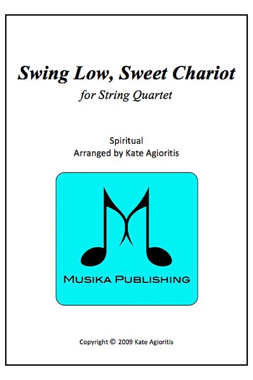 Swing Low Sweet Chariot (Jazz) - String Quartet
