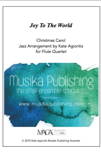 Joy to the World - Jazz Arrangement - Flute Quartet