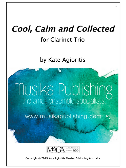 Cool, Calm and Collected - Clarinet Trio