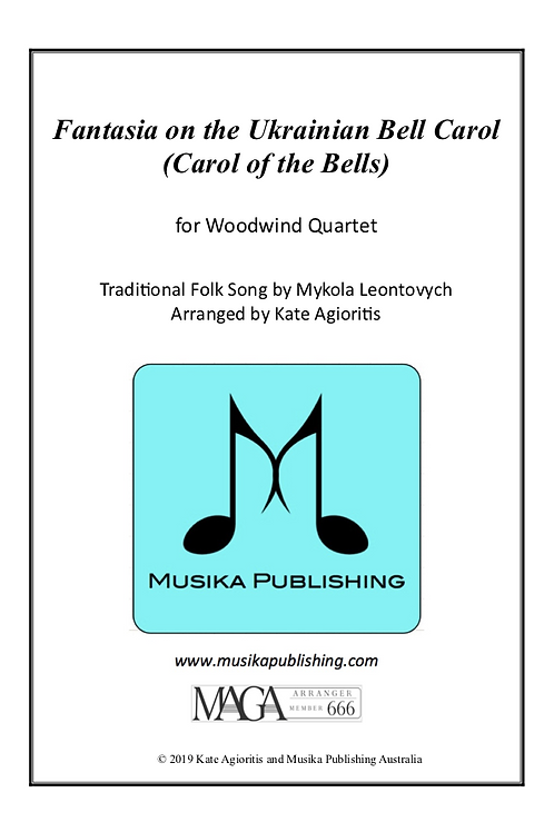 Fantasia on the Ukrainian Bell Carol - Woodwind Quartet