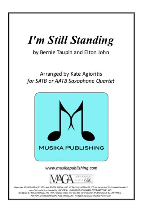 I'm Still Standing - Saxophone Quartet