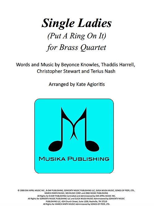 Single Ladies (Put a Ring on it) - Brass Quartet