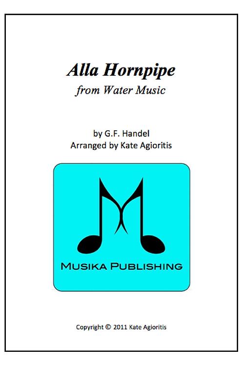 Alla Hornpipe (Water Music) - Saxophone Quartet