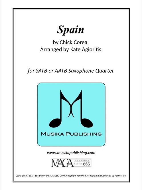 Spain - for Saxophone Quartet