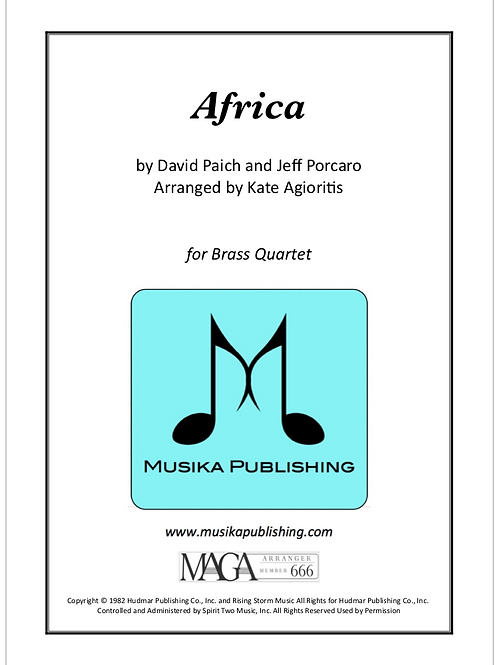 Africa - for Brass Quartet