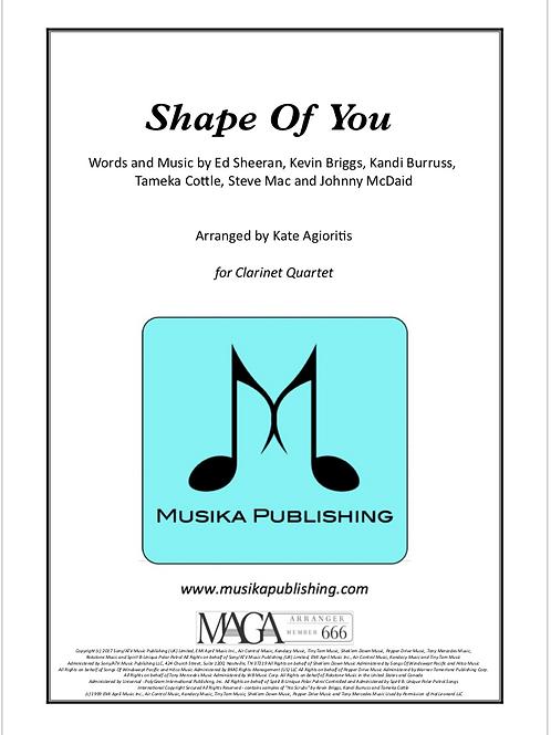 Shape of You - Ed Sheeran - Clarinet Quartet