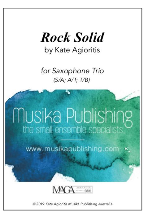 Rock Solid - Saxophone Trio