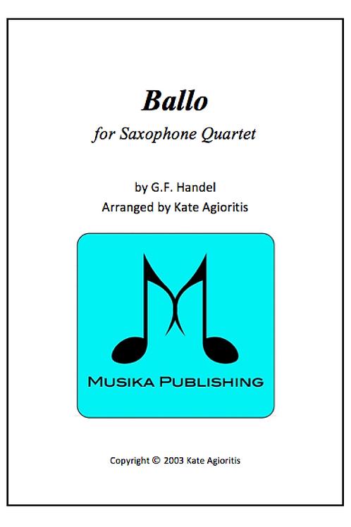Ballo - Saxophone Quartet