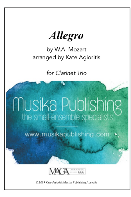 Allegro - Mozart - Clarinet Trio