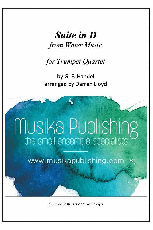 Suite in D (from Handel's Water Music) - Trumpet Quartet