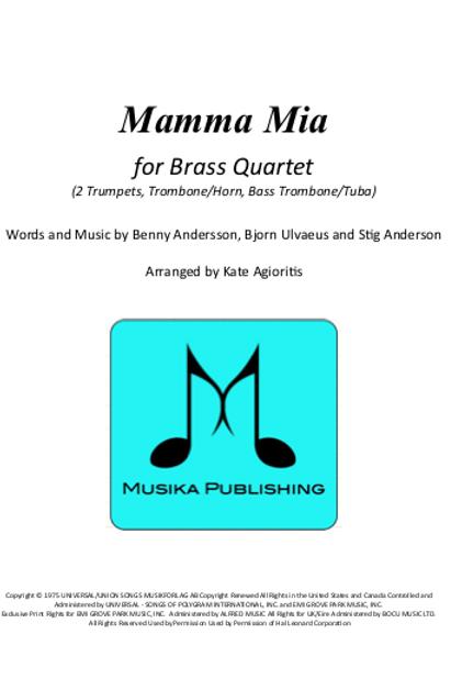 Mamma Mia (ABBA) - Brass Quartet