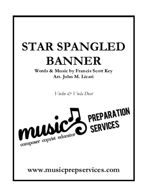 The Star-Spangled Banner - Violin and Viola Duet