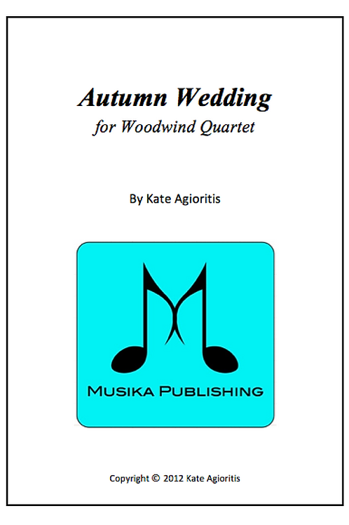 Autumn Wedding - Woodwind Quartet